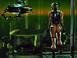 календари, фэнтези, девушка, оружие, робот, механизм, аппарат, будущее, calendar, 2020