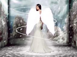 календари, фэнтези, женщина, крылья, ангел, фон, девушка, calendar, 2020