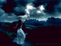 календари, фэнтези, тучи, девушка, природа, непогода, calendar, 2020