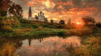 города, - православные церкви,  монастыри, село, осенево, ярославская, область