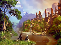 календари, фэнтези, замок, гора, природа, люди, архитектура, calendar, 2020