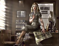 календари, фэнтези, женщина, оружие, газета, бутылка, помещение, calendar, 2020