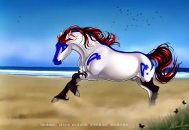 календари, фэнтези, лошадь, конь, галоп, calendar, 2020