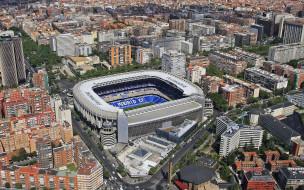 города, мадрид , испания, панорама, стадион