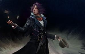 final fantasy xv, видео игры, мужчина, фон, взгляд, цилиндр