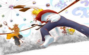 аниме, summer wars, summer, wars