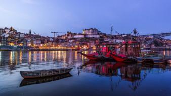 корабли, разные вместе, порту, португалия