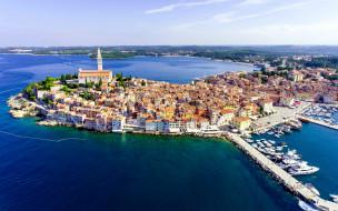 города, ровинь , хорватия, панорама
