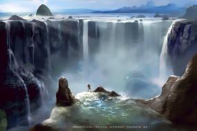 календари, фэнтези, водопад, вода, природа, calendar, 2020