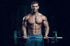 спорт, body building, мужчина, бодибилдер, мышцы, штанга