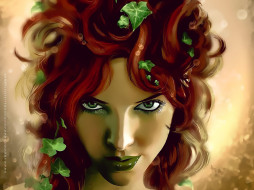 листья, боке, женщина, лицо, взгляд, девушка, фон, calendar, 2020