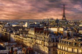 обои для рабочего стола 2560x1706 города, париж , франция, панорама