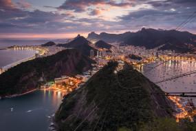 города, рио-де-жанейро , бразилия, панорама