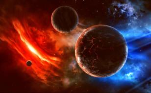 космос, арт, планета, вселенная