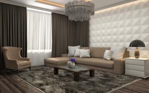 диван, мебель, лампа, люстра, гостиная