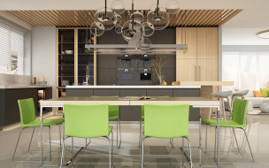 интерьер, кухня, дизайн, мебель