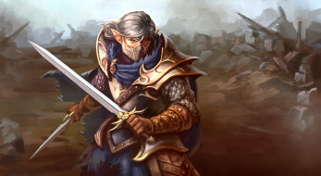 фэнтези, эльфы, мужчина, фон, взгляд, униформа, меч