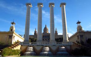 города, барселона , испания, the, four, columns