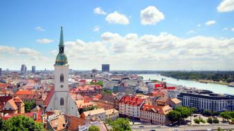 города, братислава , словакия, панорама