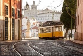 трамвай, техника, трамваи, лиссабон, португалия, город