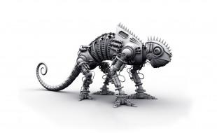 3д графика, моделирование , modeling, хамелеон, робот