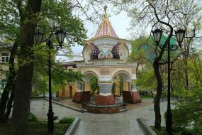 владивосток, города, - здания,  дома, город, россия, арка, фонари
