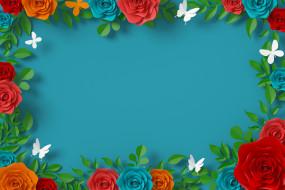 векторная графика, цветы , flowers, бабочки, цветы, фон