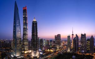 города, шанхай , китай, луцзяцзуй, шанхай, горизонт, локаце, китайские, небоскребы, азия