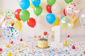 праздничные, день рождения, праздник, шары, цифра, торт, год