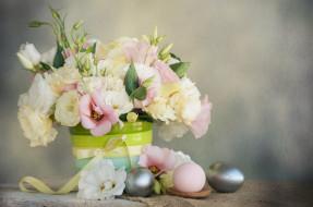 праздничные, пасха, цветы, праздник, весна, композиция