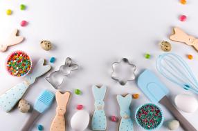 праздничные, пасха, праздник, яйца, печенье, фигурки