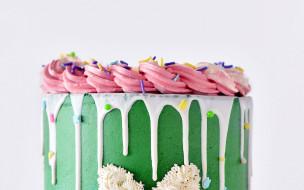 еда, торты, торт, крем