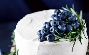 еда, торты, торт, черника