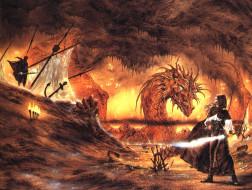 фэнтези, _luis royo, девушка, дракон, оружие, враг, мачты