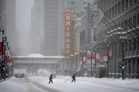 города, чикаго , сша, зима, иллинойс, чикаго, снег, сугробы