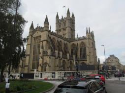 the abbey, bath, somerset, uk, города, бат , великобритания, the, abbey
