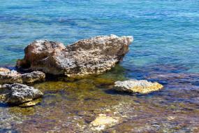 природа, побережье, скала, камни