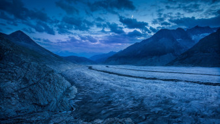 природа, горы, большой, алечский, ледник, швейцария