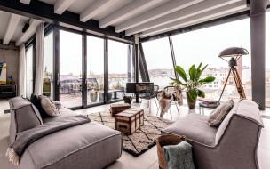 интерьер, гостиная, стильная, мебель