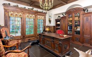интерьер, кабинет,  библиотека,  офис, офис