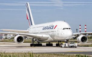 airbus a380, авиация, пассажирские самолёты, airbus, a380, air, france, пассажирский, самолет, авиалайнер, аэропорт, взлетно, посадочная, полоса