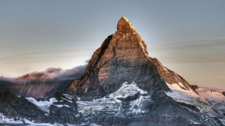 природа, горы, гора, облака, снег