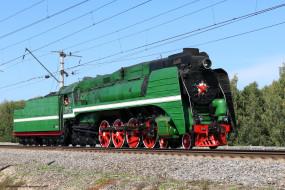 паровоз п- 36, техника, паровозы, паровоз, п-, 36, локомотив, рельсы