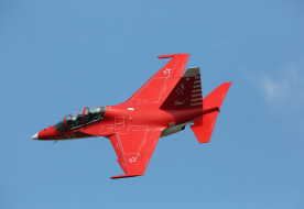 як- 130, авиация, боевые самолёты, як-, 130, самолёт, полёт, красный