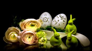 праздничные, пасха, ранункулюс, ажурные, яйца