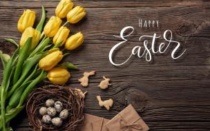 праздничные, пасха, тюльпаны, яйца, надпись