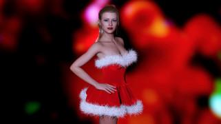 3д графика, праздники , holidays, девушка, фон, взгляд, платье