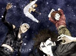 аниме, wolf`s rain, парни, оборотни, прыжок