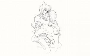 аниме, loveless, аояги, рицка, агатсума, соби, книги, объятия