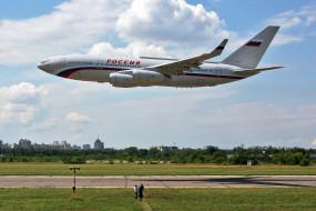 ил- 96, авиация, пассажирские самолёты, ил-, 96, самолёт, россия, полоса, взлёт, аэродром
